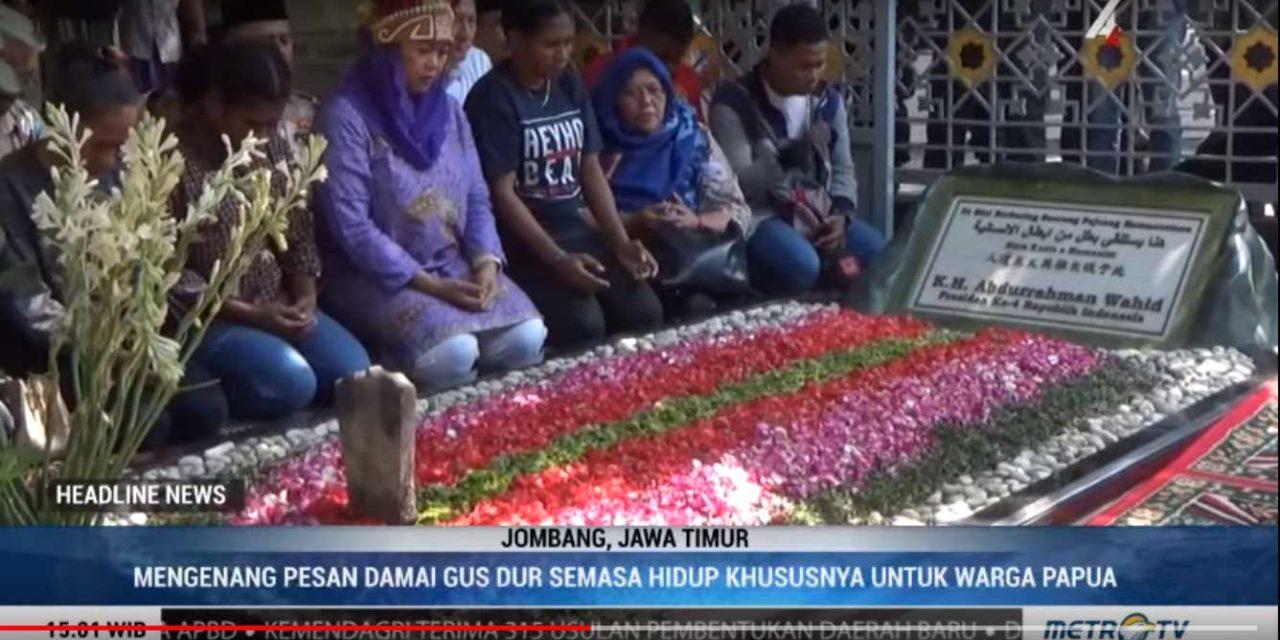 Dari Pusara Gus Dur Mahasiswa Papua di Jatim Serukan Pesan Damai Untuk Papua